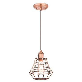 Westinghouse Nathan One-Light Pendant brushed copper with angled cage