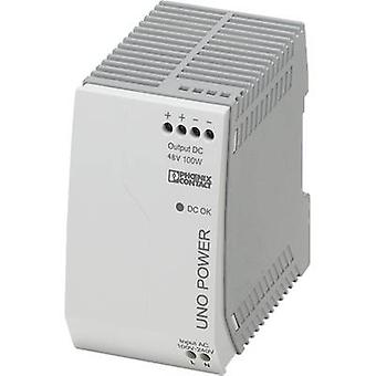 فينيكس الاتصال UNO-PS/1AC/48DC/100W السكك الحديدية التي شنت PSU (DIN) 48 V DC 2.1 A 100 W 1 x