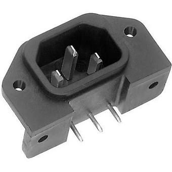 K & B 42R651611 IEC connector 42R Series (mains connectors) 42R Plug, vertical mount Total number of pins: 2 + PE 10 A Black 1 pc(s)