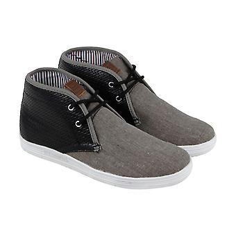 Ben Sherman Vaugh Miesten Harmaa Canvas Mid Top Lifestyle Lenkkarit Kengät