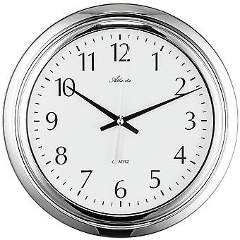 Atlanta bathroom clock quartz steam and water protection
