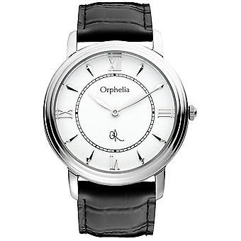 ORPHELIA Mens Analogue Watch Legacy Black Leather 155-6701-14