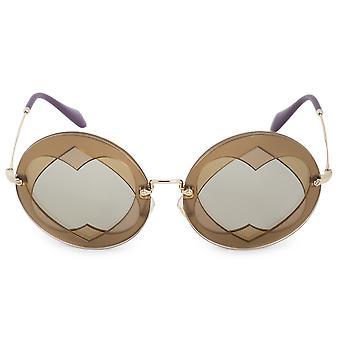 Miu miu ochelari de soare rotunde SMU01SS VA25J2 62