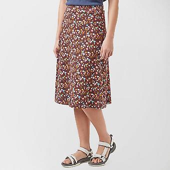 New Weird Fish Women's Walking Casual Wear Malmo Skirt Brown
