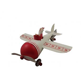 Gisela Graham Santa in A Plane Novelty Christmas Decoration