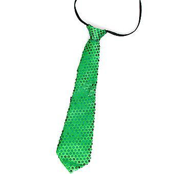 Arcs et cravates paillettes cravate verte