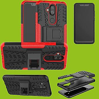 For Nokia 3.1 plus 6.0 inch hybrid case 2 piece SWL outdoor red accessories bag case cover protection