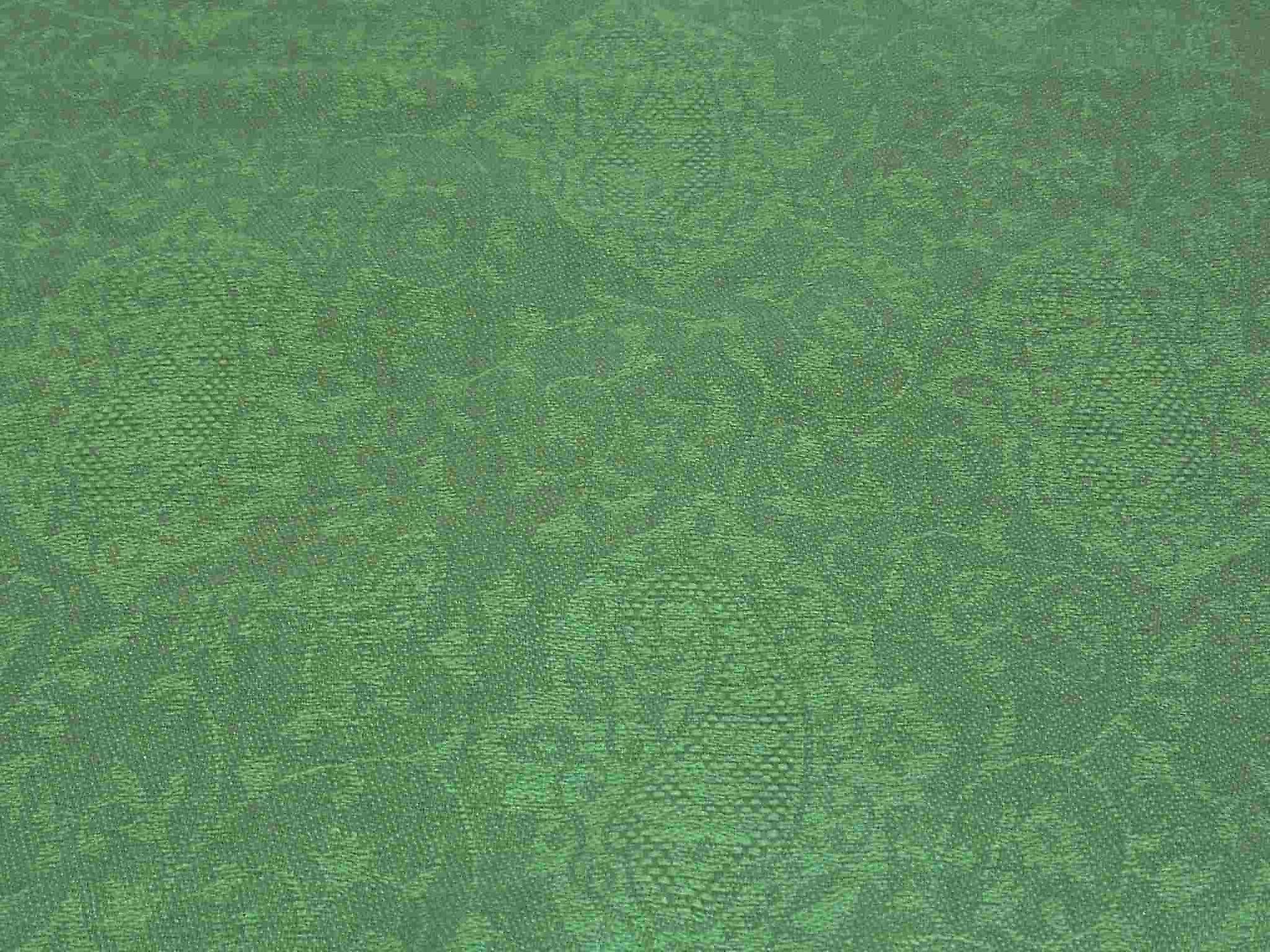 Finest Cashmere Damask Weave Ring Stole in Green by Pashmina & Silk