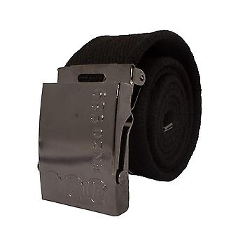 Mens Black Canvas Belt | Enzo Designer Menswear