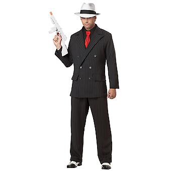 Mob Boss Gangster 1920s Mobster Mafia Pinstripes Suit Chicago Men Costume