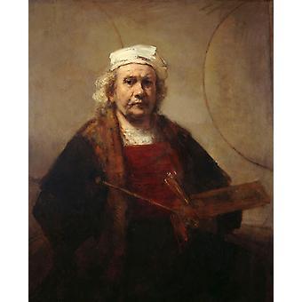 Selbstporträt, Rembrandt, 50x40cm