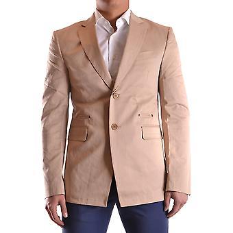 Bikkembergs Ezbc101032 Men's Beige Cotton Blazer