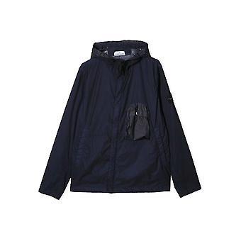 Stone Island Junior Navy Lightweight Hooded Jacket