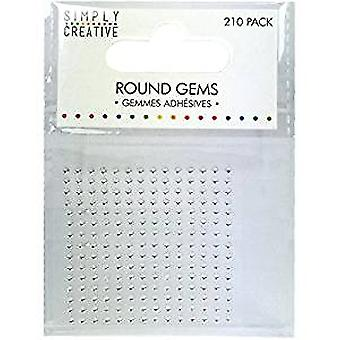 Trimcraft Simply Creative Gems - 210 Pack Clear (SCDOT001)