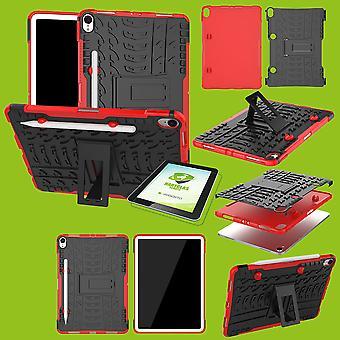 Applen iPad iPad Air 10,5 2019 3rd gen hybridi ULKOKOTELO punainen laukku + 0,4 H9 suoja lasi