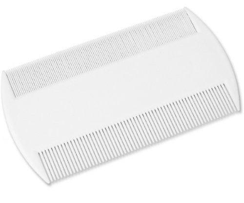 Lyclear White Double Sided Nit Comb for Head Lice Detection Comb Kids Pet Flea