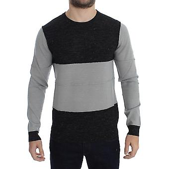 Gray crewneck wool sweater
