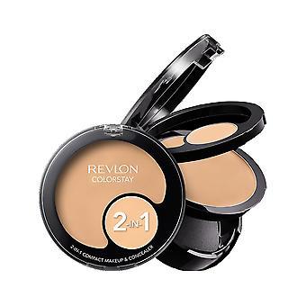 Revlon Colorstay 2 In 1 Compact Makeup + Concealer