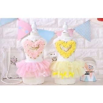 Love Heart Shape Princess Dog Dress