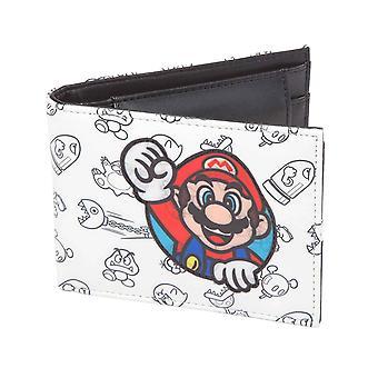 Super Mario Wallet Mario Allover Print new Official Nintendo Bifold