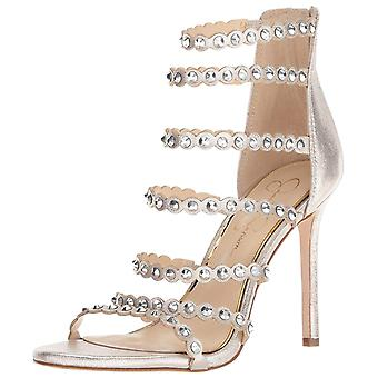 Jessica Simpson Womens Jezalynn Fabric Open Toe Special Occasion Strappy Sand...