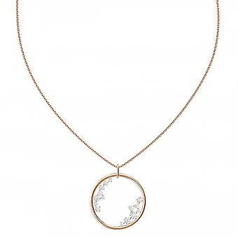 Swarovski necklace and pendant 5487069 - Timeless M tal Givr Pav effect of women's colourless crystals