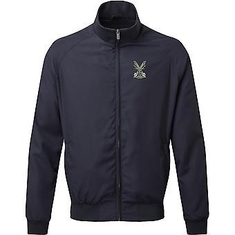 Highland Band Of The Scottish - Licensed British Army Embroidered Harrington Jacket