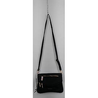 Rampage Small Handbag Front Zipper Detail Strapless Baguette Black S420970