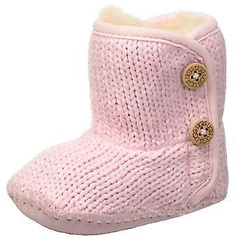 Kids Ugg Australia Girls Ugg Baby Booties Fabric Mid-Calf Buckle Snow Boots
