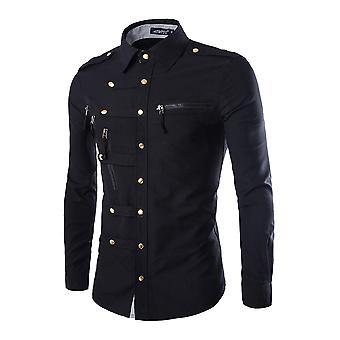 Allthemen muži ' s košeľu bavlna Four Seasons Slim fit s dlhými rukávmi košele