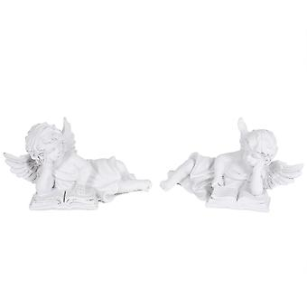 Engel liegend 2-Pack weiß