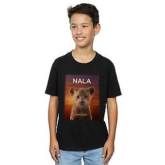 Disney Boys The Lion King filme Baby Nala poster T-shirt