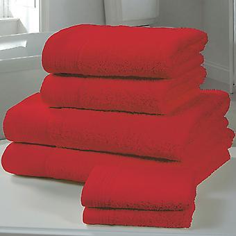 Chatsworth 4 kpl pyyhe paali punainen-2 käsi pyyhkeet, 2 kylpy pyyhkeitä