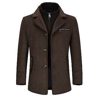 Allthemen Men ' s levehető bélés üzleti alkalmi gyapjú Blend kabát