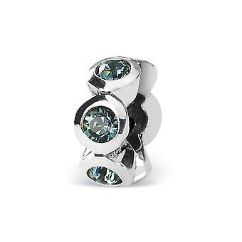925 Sterling Silver Gepolijste Reflecties Dec Crystal Bead Charme Hanger Ketting Sieraden Cadeaus voor vrouwen