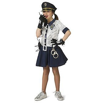 Poliisi tyttö Peggy tyttö puku poliisi PoliceWoman tyttö puku
