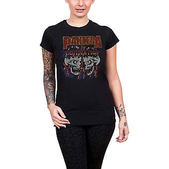 Pantera T shirt overheersing nieuwe officiële Womens skinny fit Scoop nek zwart