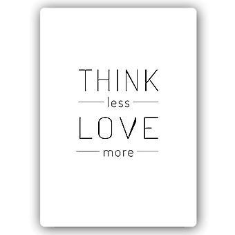 Stampa in metallo, pensare meno amore di più