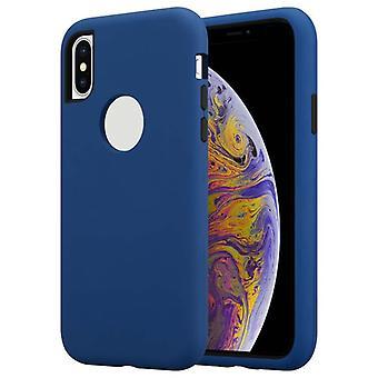 Cadorabo tilfældet for Apple iPhone X/XS Case Cover-hybrid telefon tilfældet med TPU silikone inde og 2-stykke plast udenfor-beskyttende sag hybrid hardcase tilbage sag