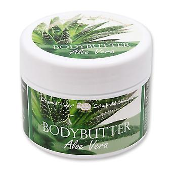Florex Bodybutter Aloe Vera mit biologischer Schafmilch für intensive Feuchtigkeit bei trockener und normaler Haut 125 ml