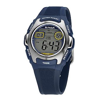 SINAR mládež Sledujte deti náramkové hodinky digitálny Quartz, XE-50-2 modrý striebro