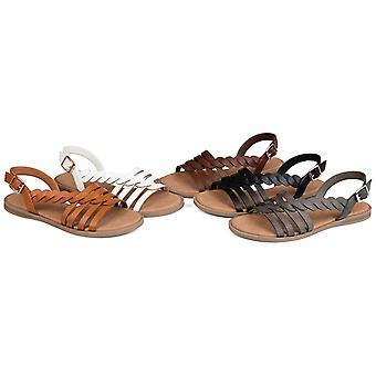 Brinley Co. Womens Braided Cushioned Sandal