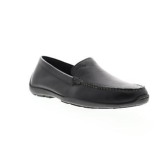 Tommy Bahama Orion  Mens Black Wide Leather Casual Loafers Shoes