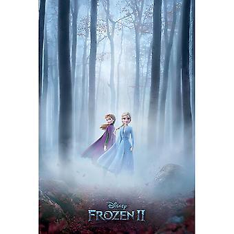 Gefrorene 2 Hölzer in Nebel Poster