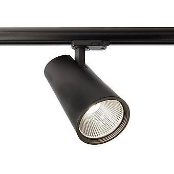 LED 3-Phasen Schienenstrahler Luna 40 40W 4000K 40° schwarz dimmbar