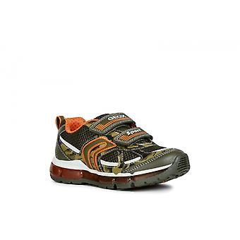 GEOX Android Boys Touch Fasten Trainers Militaire/orange