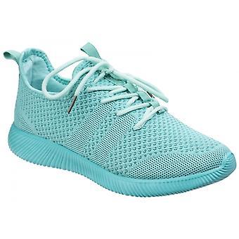Sneakers Divaz Heidi dames mesh turkoois