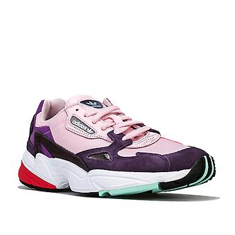 Womens adidas Originals Falcon Trainers In Clear Pink / Legend Purple