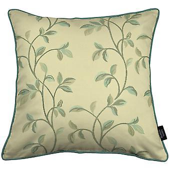 Mcalister textiles annabel floral duck egg blue cushion