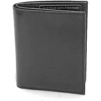 Vertical Form Wallet - Vachette Leather And Closing Fold